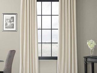 Exclusive Fabrics   Furnishings Signature Blackout Velvet 50  x 108  Curtain Panel
