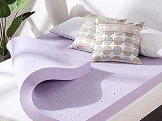Best Price Mattress 4 Inch Ventilated lavender Memory Foam Mattress Topper   Short Queen