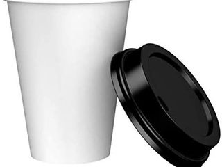 Amazon Brand   Solimo 12oz Paper Hot Cup with lid  150 Count