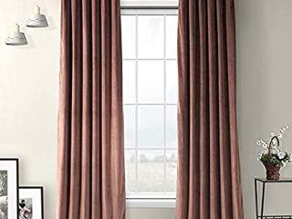 HPD Half Price Drapes VPYC 161234 96 Plush Velvet Curtain  1 Panel  50 X 96  Wild Rose