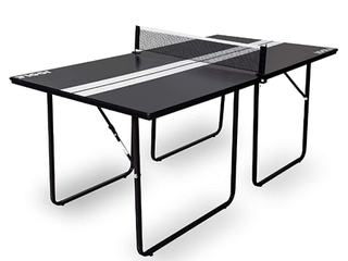 JOOlA Midsize Sport Compact Table Tennis Table with Ping Pong Net Set  12mm Surface  6  x 3  Black