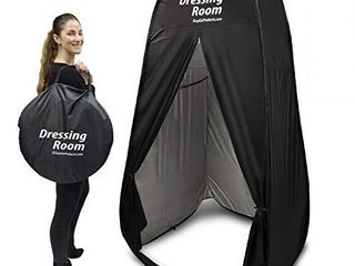 EasyGoProducts Portable Changing Dressing Room Pop Up Shelter for Outdoors Beach Area Grass Shower Room Equipped with Portable Carrying Case  Great for Clothing Companies  Black  EGP TENT 017