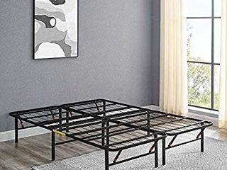Amazonbasics Foldable Metal Platform Bed Frame 14 Inch Height For Under bed Storage  Full
