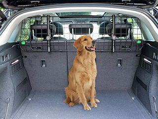 AmazonBasics Adjustable Dog Car Barrier   12 Inch  Black