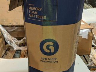 Olee Sleep Tri Folding Memory Foam Mattress Topper  TWIN  38  x 78  Blue  Twin