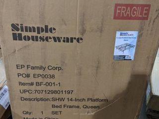 Simple Houseware 14 inch Queen Size Mattress Foundation Platform Bed Frame Queen