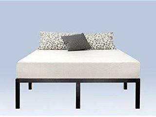 Zinus Yelena 14 Inch Classic Metal Platform Bed Frame with Steel Slat Support   Mattress Foundation  Queen AZ MPSC 14Q Black