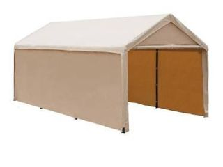 Abba Patio Extra large Heavy Duty Carport with Removable Sidewalls Portable Garage Car Canopy Boat Shelter Tent for Party  Wedding  Garden Storage Shed 8 legs  10 x 20 Feet Beige