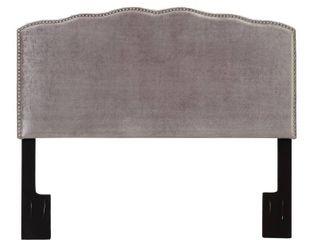 Pulaski Right2Home Upholstered  King  Gray Headboard  Velvet Shimmer