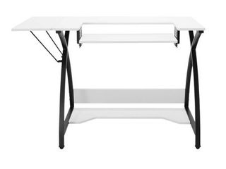 Sew Ready Comet Sewing Table Multipurpose Sewing Desk Craft Table Sturdy Computer Desk  13332  45 5  W  Black White