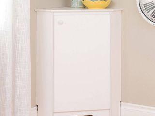 Prepac Elite Corner Storage Cabinet  Elite Corner Storage Cabinet  White