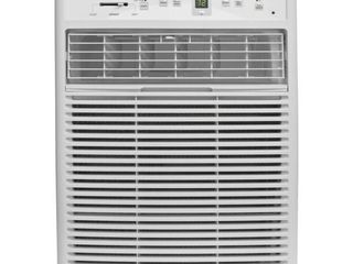 Frigidaire FFRS0822S1 8000 BTU Heavy Duty Slider Casement  Electronic  Remote Control Window Air Conditioner  8 000  White  Plugged in and powers on