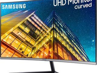 Samsung   31 5  lCD Curved 4K UHD Monitor  HDMI    Dark Blue Gray  SCREEN HAS SOME DAMAGE