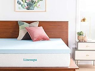 linenspa 3 Inch Gel Infused Memory Foam Twin Xl Size Mattress Topper