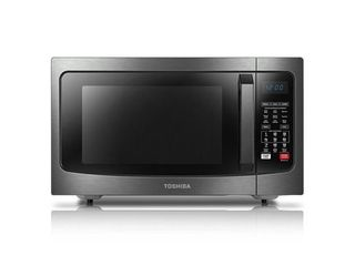 Toshiba EC042A5C SS Microwave Oven with Convection Function Smart Sensor and lED lighting  1 5 cu  ft 1000W  Stainless Steel  PIRCE THAT TURN TURNTABlE IS BROKEN
