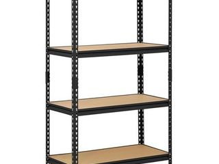 Muscle Rack 36 W x 18 D x 60 H Four Shelf Steel Shelving  Black