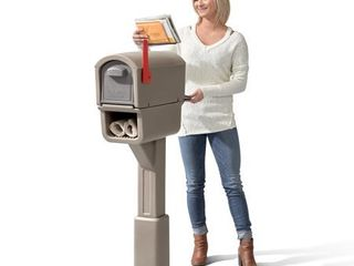 Step2 MailMaster Express Plus Plastic Mailbox Mocha Finish