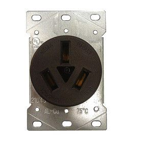 Utilitech 50 Amp Flush Mount Appliance Electrical Outlet