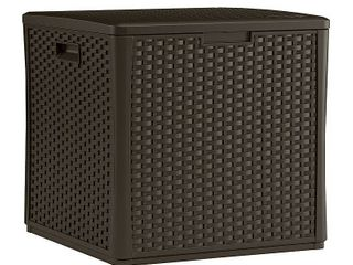 Suncast Storage Cube Resin Wicker 60 Gallon