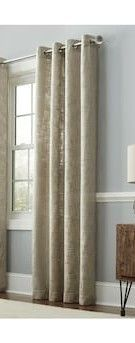 95 in linen Polyester Grommet light Filtering Single Curtain Panel Decor Home