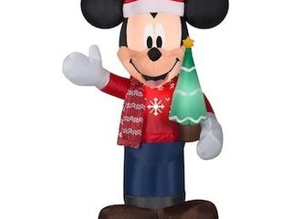 Disney 3 5 ft lighted Mickey Mouse Christmas Inflatable