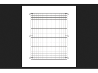 Origin Point Brands 795010 Poultry Fence Panel  Silver