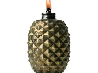 TIKI Pineapple Metal Torch 65 in Bronze Glass Garden Torch