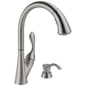 Delta 19922Z SSSD DST Ashton Single Handle Pull Down Kitchen Faucet  Stainless