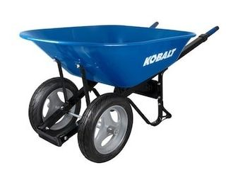 Kobalt 7 cubic ft 2 wheel wheelbarrow