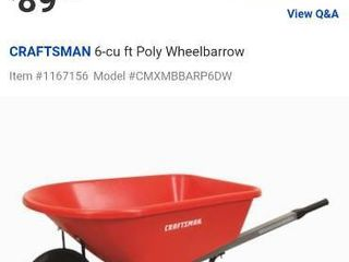 Craftsman 6 CFT wheelbarrel