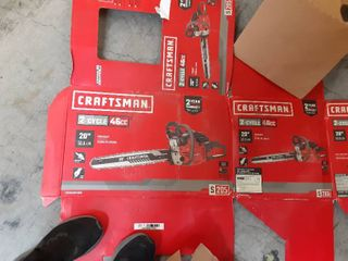Craftsman 20 inch 46cc 2 cycle gas powered chainsaw