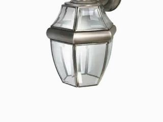 Secure Home Hanging Carriage 14 5 in H Antique Silver Medium Base  E 26  Outdoor Wall light