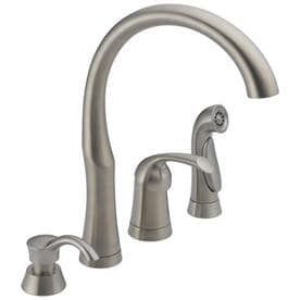 Delta Stainless High Arc Kitchen Faucet with Side Spray