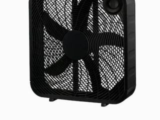 Indoor Box Fan Personal Portable Desk Room Cooler 3 speed Black 20 Inch