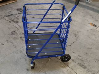 Milwaukee Steel Shopping Cart in Blue