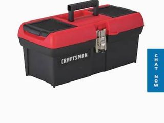 CRAFTSMAN DIY 16 in Red Plastic lockable Tool Box