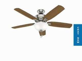 Hunter Creekside led 52  Brushed Nickel Indoor Ceiling Fan No light Kit