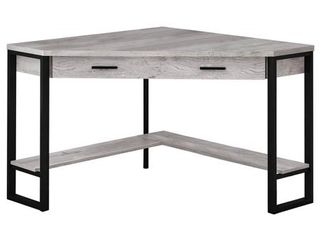 COMPUTER DESK   42 l   GREY REClAIMED WOOD CORNER