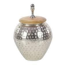 Silver Orchid Olivia Metal Wood Jar 8 inch x 12 inch