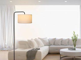 64 Inch Matte Black Floor lamp  Retail 76 48 off white