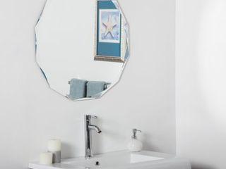 Columbus Frameless Wall Mirror   Clear   A N  Retail 108 99