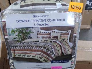 northcrest down aternative comforter set 5 pc full queen