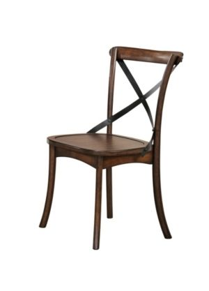 Acme Furniture Kaelyn Dining Chair  Set 2  Dark Oak   Black  Retail 145 49