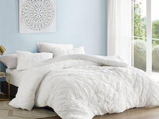 farmhouse morning textured oversized comforter white King  Retail 116 99