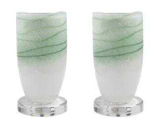 Ansel Art Glass Uplight   Set of 2  Retail 85 48