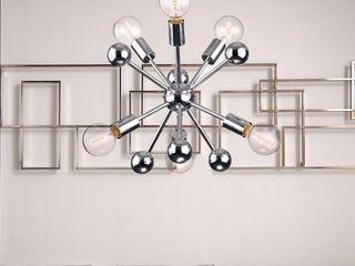lorena Sputnik Chrome Finish Industrial 6 light Chandelier   N A  Retail 98 99