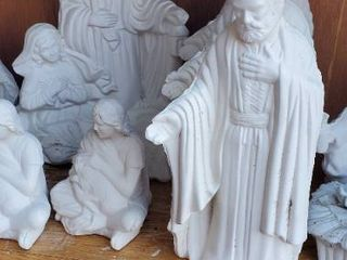 large lot of Miscellaneous Nativity Scene Bisqueware