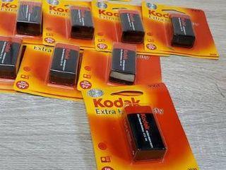 lot of 9  KODAK K9VHZ 1 30635401 Extra Heavy Duty Carbon Zinc Batteries  9V  1 pk