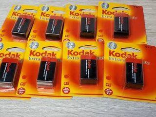 lot of 8  KODAK K9VHZ 1 30635401 Extra Heavy Duty Carbon Zinc Batteries  9V  1 pk
