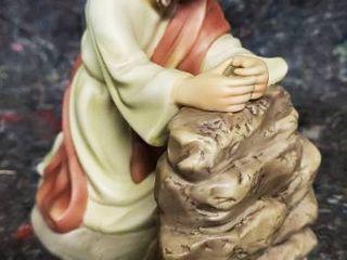 Porcelain Sculpture of Jesus at Gethsemane